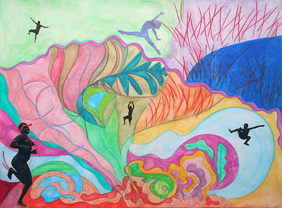 Multicolored Painting - Natural Enthusiasm by Laura Joan Levine