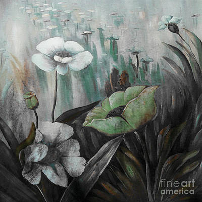 Painting - Natural Flowers by Gull G