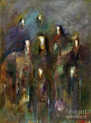 Horse Herd Painting - Natural Instincts by Frances Marino