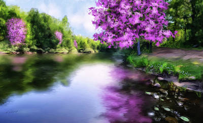 Digital Art - Natural Pink by Johanne Dauphinais