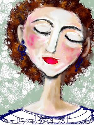 Digital Art - Natural Redhead by Elaine Lanoue