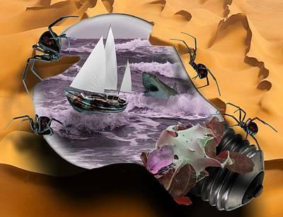 Consequences Digital Art - Natural Selection by Solomon Barroa