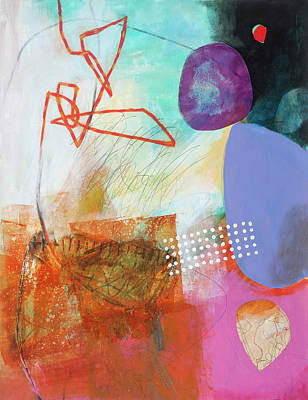 Abstract Collage Painting - Natural Selection#1 by Jane Davies