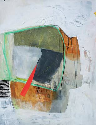 Abstract Collage Painting - Natural Selection#3 by Jane Davies
