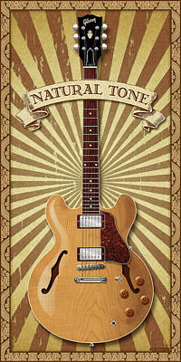 Eric Clapton Digital Art - Natural Tone 335 by WB Johnston