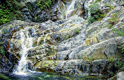 Photograph - Natural Waterfall by Anthony Dezenzio