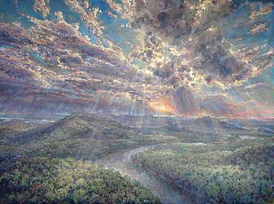 Sun Rays Painting - Naturally Dramatic by Jimmy Leach