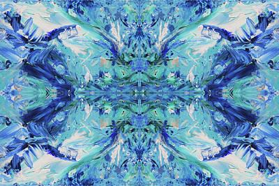 Digital Art - Naturals - Azurite - K01 by Julie Turner