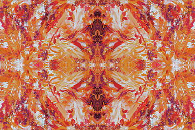 Digital Art - Naturals - Coral - K01 by Julie Turner