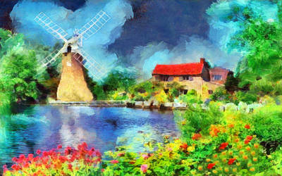 Nederland Painting - Nature 2 by George Rossidis