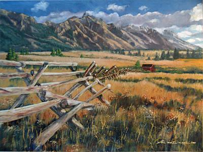 Peter Muzyka Wall Art - Painting - Nature At Bay by Peter Muzyka