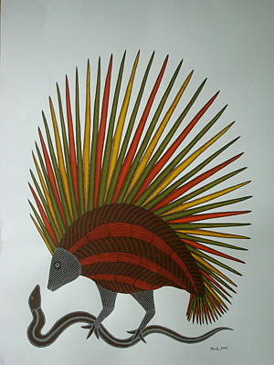 Gond Painting - Nature by Bhajju Shyam