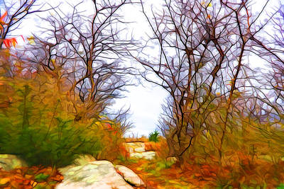Plein Air Mixed Media - Nature Colors by Lilia D