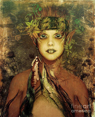 Digital Art - Nature Fairy by Jutta Maria Pusl