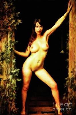 Nudist Painting - Nature Girl By Mary Bassett by Mary Bassett