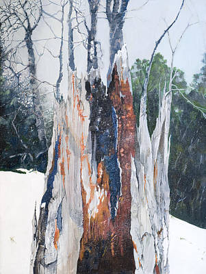 Snowy Day Painting - Nature Giveth And She Taketh Away         by Virginia McLaren
