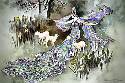 Mixed Media - Nature Goddess by Pennie McCracken