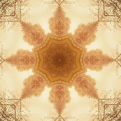 Digital Art - Nature Kaleidoscope by Wim Lanclus