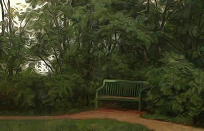 Autumn Landscape Drawing - Nature Landscape Painted by Edna Wallen