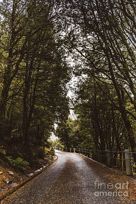 Art Print featuring the photograph Nature Landscape Photo Of A Scenic Mountain Road by Jorgo Photography - Wall Art Gallery