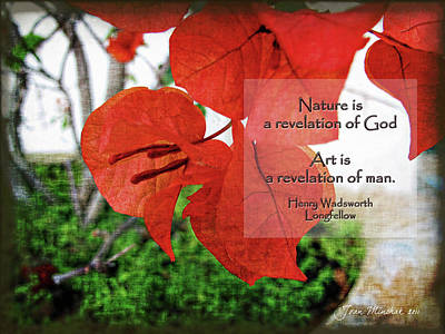 Digital Art - Nature Longfellow Quote by Joan  Minchak