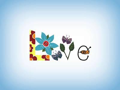 Mixed Media - Nature Love by Kathleen Sartoris