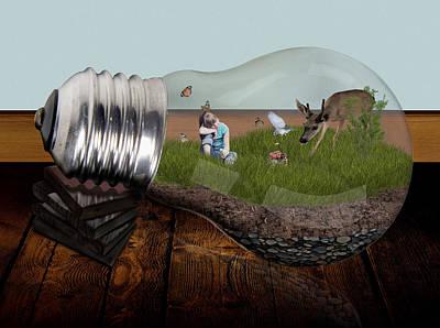 Surrealism Digital Art - Nature Lover by Barroa Artworks