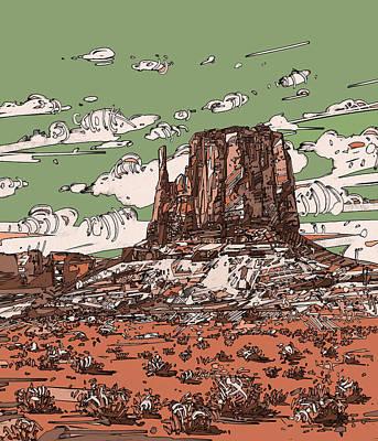 Grand Canyon Digital Art - Nature Monument 2 by Bekim Art