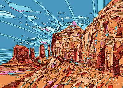 Grand Canyon Digital Art - Nature Monument 3 by Bekim Art