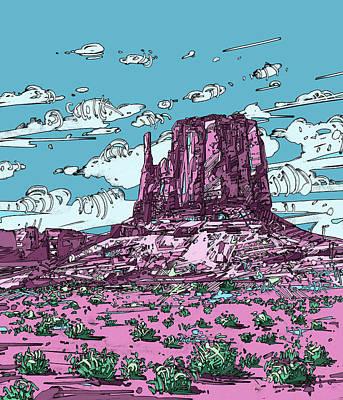 Grand Canyon Digital Art - Nature Monument by Bekim Art