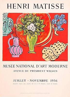 Mourlot Painting - nature Morte au Magnolia by Henri Matisse