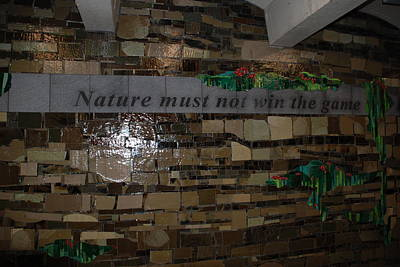 Nature Must Not Win The Game Original by Rob Hans