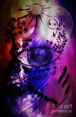 Mixed Media - Nature N Music Abstract by Maria Urso