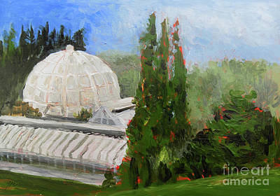 Painting - Nature Observatory At Hidden Lake Gardens  Plein Air by Yoshiko Mishina