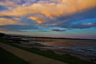 Photograph - Nature Paints Sunset  Over Bay by Miroslava Jurcik