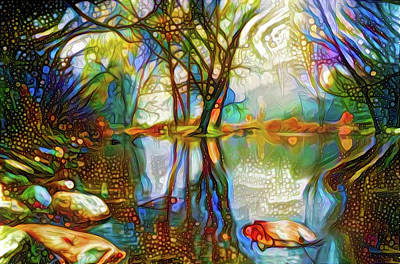 Mixed Media - Nature Reflections 2 by Lilia D
