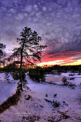 Photograph - Nature Reserve Snowset by John Loreaux