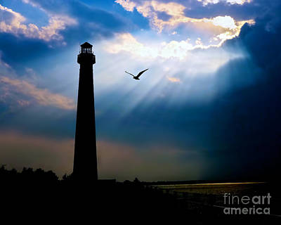Lighthouse Photograph - Nature Shines Brighter by Mark Miller