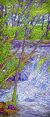 Digital Art - Nature Streaming by Joel Bruce Wallach