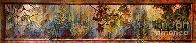 Nature Tapestries - Textiles Photograph - Nature Tapestry 1997 by Padre Art