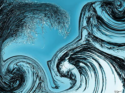 Quality Digital Art - Nature Waves Back At You by Abstract Angel Artist Stephen K