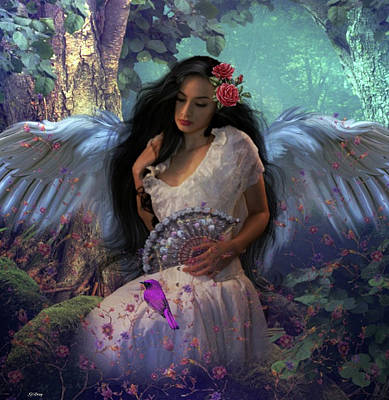 Erotica Mixed Media - Nature's Angel by G Berry