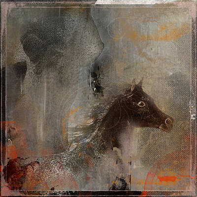 Arabian Horses Mixed Media - Natures Beauty Is All Over by ELA-EquusArt