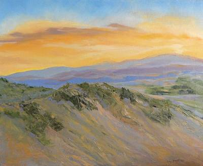 Nature's Blazing Sky Art Print by Jo Anne Neely Gomez