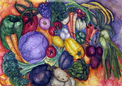 Broccoli Painting - Natures Bounty by Patricia Merewether