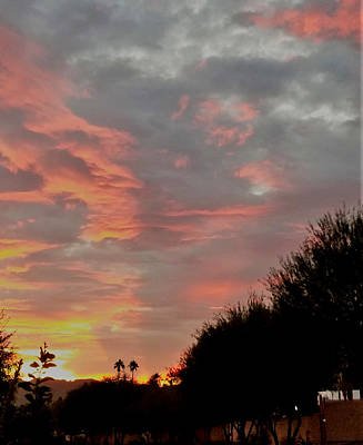Photograph - Natures Coloring Book Over Palm Desert by Jay Milo