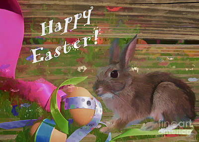 Digital Art - Nature's Easter Card 2016 by Kathryn Strick