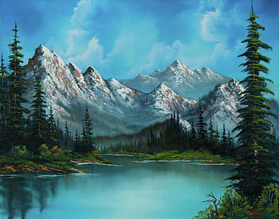 Sawtooth Mountain Art Painting - Nature's Grandeur by C Steele