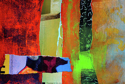 Contemporary Abstract Mixed Media - Natures Half Note by Nancy Merkle