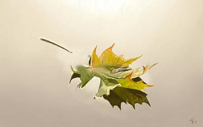 Painting - Nature's Handshake 3 by Arie Van der Wijst